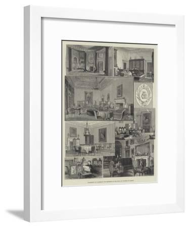 Apartments of Claremont, the Residence of the Duke and Duchess of Albany--Framed Giclee Print