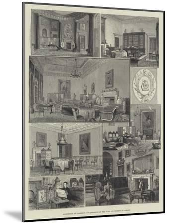 Apartments of Claremont, the Residence of the Duke and Duchess of Albany--Mounted Giclee Print