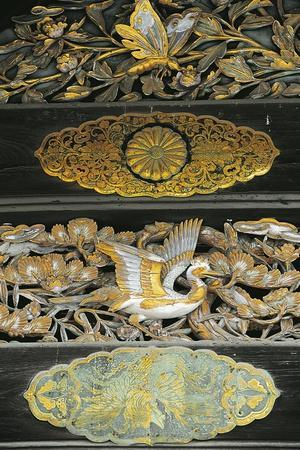 Gilded Birds and Butterflies, Detail of Ninomaru Palace, Nijo Castle, Kyoto, 17th Century, Japan--Framed Giclee Print