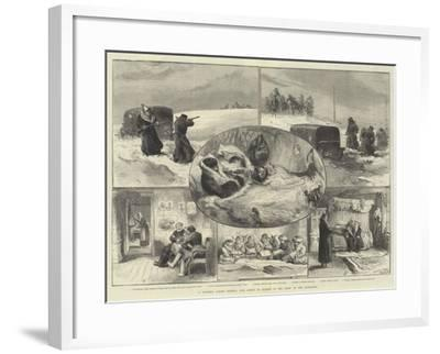 A Journey across Siberia, Our Artist in Search of the Crew of the Jeannette--Framed Giclee Print
