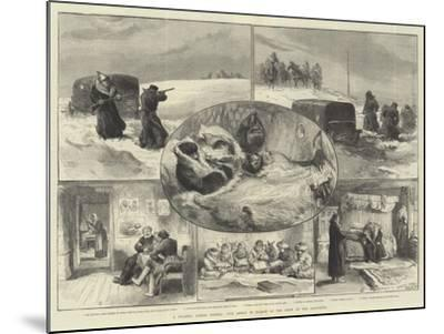 A Journey across Siberia, Our Artist in Search of the Crew of the Jeannette--Mounted Giclee Print