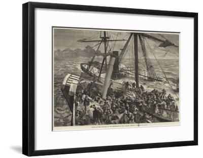 Rescue of the Survivors of the Deutschland by the Harwich Steam Tug Liverpool--Framed Giclee Print