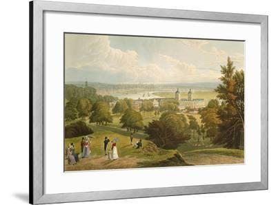 A View of London Taken from Greenwich Park, Pub. 1820 by Colnaghi and Co.--Framed Giclee Print