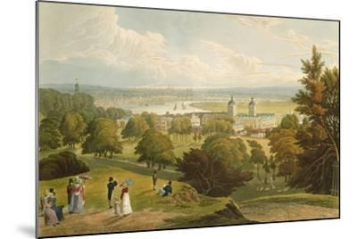 A View of London Taken from Greenwich Park, Pub. 1820 by Colnaghi and Co.--Mounted Giclee Print