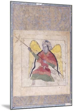 An Angel Wearing a Turban, Bearing a Staff, C.1370-80 (Gouache with Gold Paint on Paper)--Mounted Giclee Print