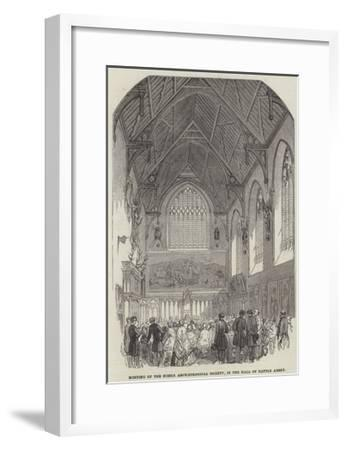Meeting of the Sussex Archaeological Society, in the Hall of Battle Abbey--Framed Giclee Print