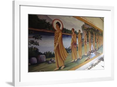 Buddha Walking Followed by Faithful, Myazedi Pagoda, Bago (Pegu), Myanmar (Burma), 16th Century--Framed Giclee Print