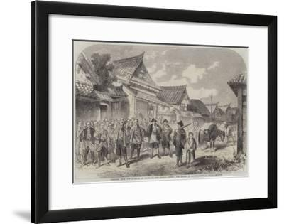 Sketches from the Interior of Japan, Our Escort of Matchlockmen at Omura--Framed Giclee Print