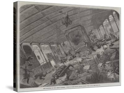 The Disaster to the Great Eastern, State of Her Grand Saloon During the Gale--Stretched Canvas Print