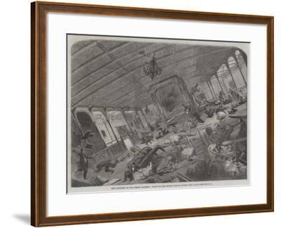 The Disaster to the Great Eastern, State of Her Grand Saloon During the Gale--Framed Giclee Print