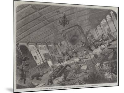 The Disaster to the Great Eastern, State of Her Grand Saloon During the Gale--Mounted Giclee Print