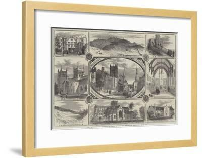The Archaeological Institute of Great Britain and Ireland at Dorchester--Framed Giclee Print