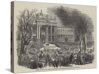 Return of the Pope to Rome, the Procession at the Church of San Giovanni--Stretched Canvas Print