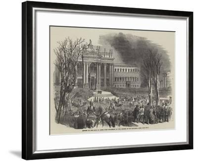 Return of the Pope to Rome, the Procession at the Church of San Giovanni--Framed Giclee Print