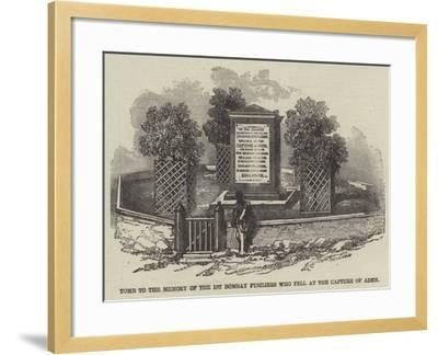 Tomb to the Memory of the 1st Bombay Fusiliers Who Fell at the Capture of Aden--Framed Giclee Print