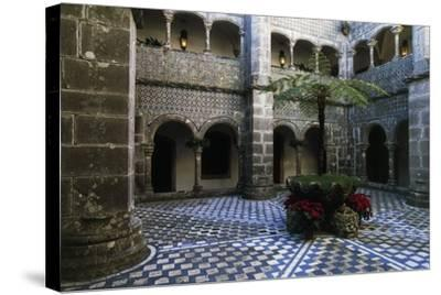 Cloister in Pena National Palace, Sintra (Unesco World Heritage List, 1995), Portugal, 19th Century--Stretched Canvas Print