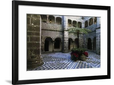 Cloister in Pena National Palace, Sintra (Unesco World Heritage List, 1995), Portugal, 19th Century--Framed Giclee Print
