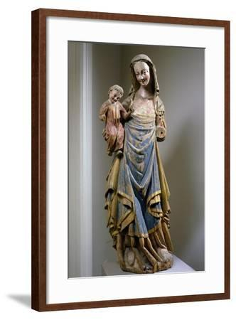 Madonna with Child or Madonna of Erlach, Polychrome Wood Sculpture, 1320 Ca, 14th Century--Framed Giclee Print