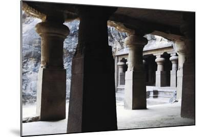 Columns in East Courtyard of Buddhist Temple on Elephanta Island, India, 5th-8th Century--Mounted Giclee Print