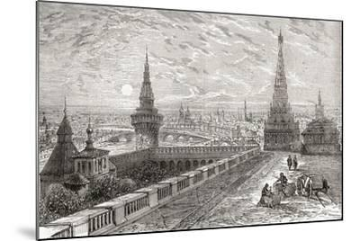 Moscow, Russia in the 19th Century. from the National Encyclopaedia, Published C.1890--Mounted Giclee Print