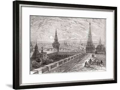Moscow, Russia in the 19th Century. from the National Encyclopaedia, Published C.1890--Framed Giclee Print