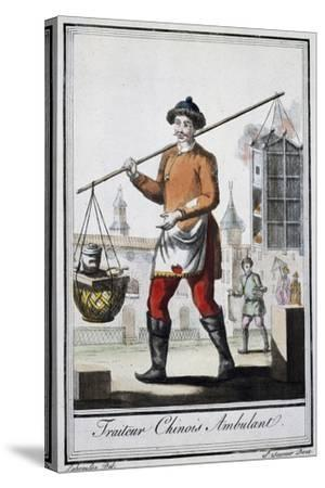 Chinese Itinerant Roaster, 1795, from the Travel Encyclopedia by Saint Sauveur--Stretched Canvas Print