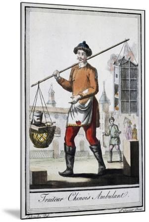 Chinese Itinerant Roaster, 1795, from the Travel Encyclopedia by Saint Sauveur--Mounted Giclee Print