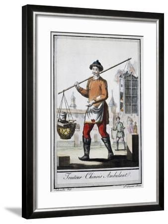 Chinese Itinerant Roaster, 1795, from the Travel Encyclopedia by Saint Sauveur--Framed Giclee Print