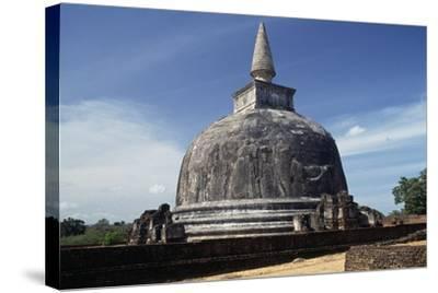 Dagoba Kiri Vihara, Polonnaruwa (Unesco World Heritage List, 1982), Sri Lanka--Stretched Canvas Print