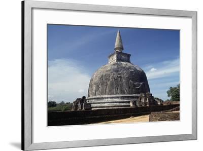 Dagoba Kiri Vihara, Polonnaruwa (Unesco World Heritage List, 1982), Sri Lanka--Framed Giclee Print