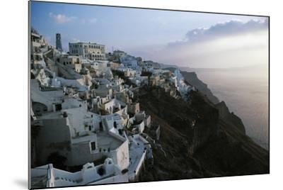 View of Fira or Thira at Sunset, Santorini Island, Cyclades Islands, Greece--Mounted Giclee Print