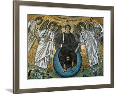 Christ Surrounded by Angels, St. Vitalis and Bishop Ecclesius. Apse. 6Th. Ravenna. Italy--Framed Giclee Print