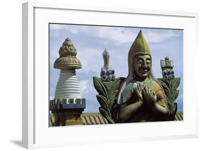 Close-Up of a Statue in a Temple, Gandan Monastery, Ulan Bator, Mongolia--Framed Giclee Print