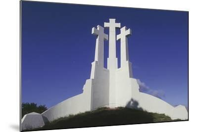 Low Angle View of a Monument, Three Crosses Monument, Vilnius, Lithuania--Mounted Giclee Print