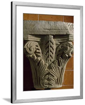 Capital, Early Medieval Reworking or Corinthian Type Romanesque, Italy, 5th-11th Century--Framed Giclee Print