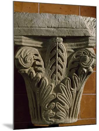 Capital, Early Medieval Reworking or Corinthian Type Romanesque, Italy, 5th-11th Century--Mounted Giclee Print