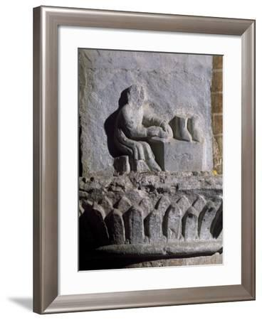 Figure of Shoemaker, Relief, Basilica of Twelve Apostles, Old Lodi, Lombardy, Italy, 14th Century--Framed Giclee Print