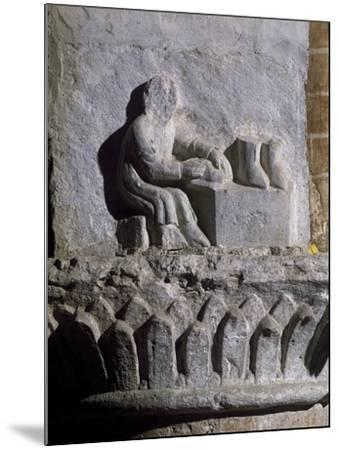 Figure of Shoemaker, Relief, Basilica of Twelve Apostles, Old Lodi, Lombardy, Italy, 14th Century--Mounted Giclee Print