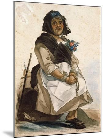 La Basana (Woman Sloppy and Disheveled), 18th Century, by Carlo Lasinio (1759-1838), Colored--Mounted Giclee Print