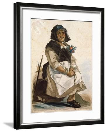 La Basana (Woman Sloppy and Disheveled), 18th Century, by Carlo Lasinio (1759-1838), Colored--Framed Giclee Print