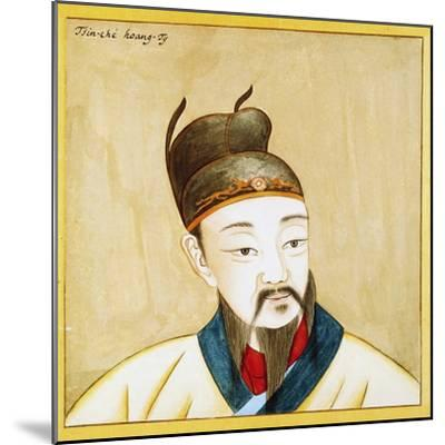 Portrait of Qin Shi Huang, Founder of the Empire of China, Chinese Civilization, 17th Century--Mounted Giclee Print