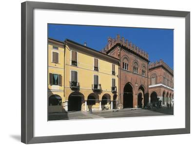 Low Angle View of Buildings, Town Hall Square, Cremona, Lombardy, Italy--Framed Giclee Print