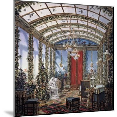 Design for Winter Garden, Watercolour Drawing, Restoration Period, France, 19th Century--Mounted Giclee Print