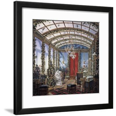 Design for Winter Garden, Watercolour Drawing, Restoration Period, France, 19th Century--Framed Giclee Print