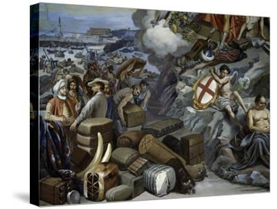Ligurian Trade, Painting by Giuseppe Isola (1808-1893), Italy, 19th Century--Stretched Canvas Print