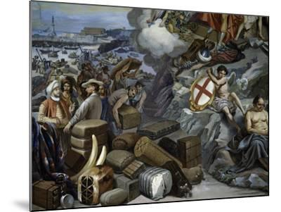 Ligurian Trade, Painting by Giuseppe Isola (1808-1893), Italy, 19th Century--Mounted Giclee Print