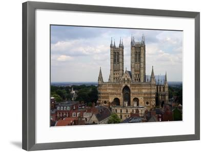 Lincoln Cathedral, Consecrated in 1092, English Gothic Style, Lincoln, Lincolnshire, United Kingdom--Framed Photographic Print