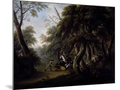 Wild Boar Hunting, End of 18th Century, Painting by Unknown Neapolitan Artist--Mounted Giclee Print