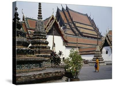 Temple of the Reclining Buddha, Wat Pho, Bangkok, Thailand, 18th Century--Stretched Canvas Print