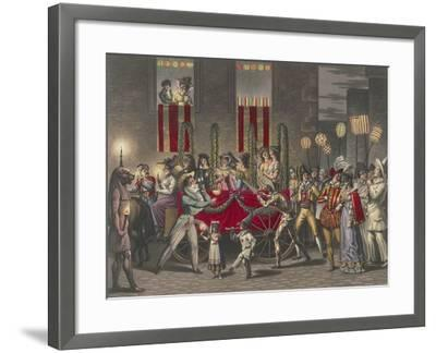 Carnival in Rome, Festival of the Moccoletti (Tapers), Italy, 19th Century--Framed Giclee Print